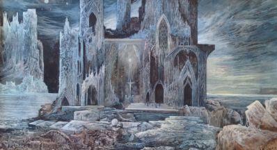 Kunstenaar Harry Balm A5019-3 Harry Balm aquarel, sprookjesachtig kasteel gedateerd 1974 verkocht