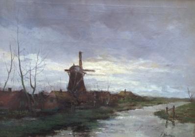 Kunstenaar Jan Antoon Neuhuys A6057, J.A. Neuhuys gereserveerd