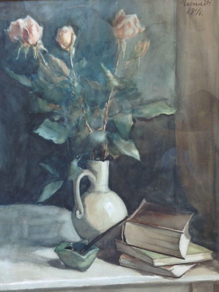 Kunstenaar Ferenc László Hernadi C1901, Hernadi, aquarel 28 x 36,3 cm, rechtsboven gesigneerd particuliere collectie