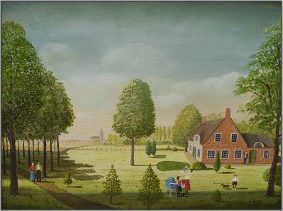 Schilderijen te koop van kunstschilder Jaap ter Haar olie op doek, 30 x 40 cm gesigneerd en gedateerd, Expositie Galerie Wijdemeren Breukeleveen