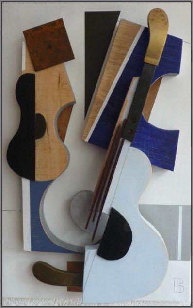 Kunstenaar Bert van Herwijnen 3527, Bert van Herwijnen Stilleven met gitaar